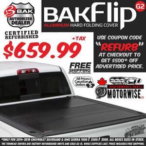 "BAKFlip 5'8"" G2 Hard Folding Tonneau Cover for 2014-2018 Silverado and Sierra 1500 | Save $500 | Factory Refurbished"