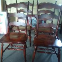 4 beautiful solid wood chairs