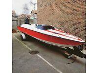 Speed boat- on heavy duty trailer