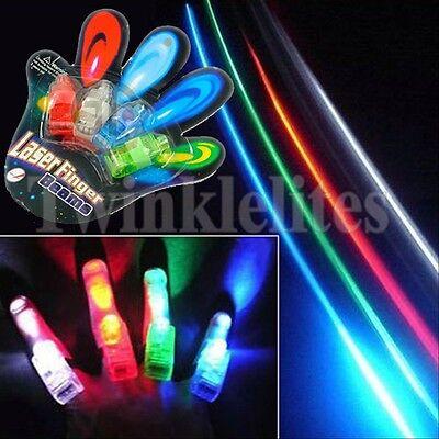LED Finger Lights Lamps Party Laser Finger Light Up Kids Gifts Glow Ring Raves - Led Finger Light