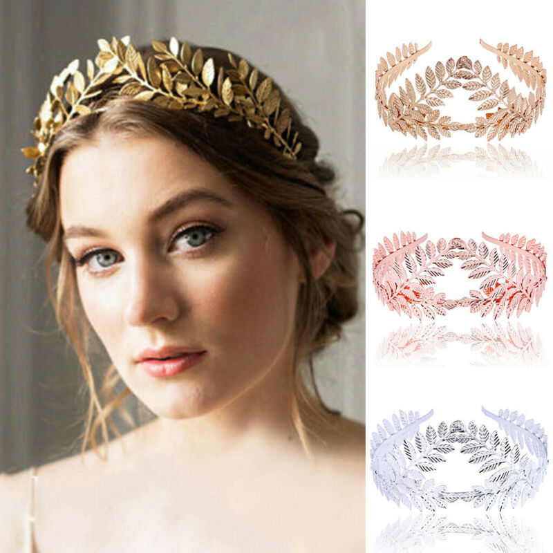 Womens Headband Goddess Leaf Flower Hair Crown Head Piece Go