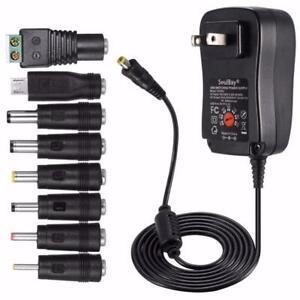 Weekly Promo!    30W UNIVERSAL AC/DC ADAPTER SWITCHING POWER SUPPLY WITH 8 SELECTABLE ADAPTER TIPS & MICRO USB