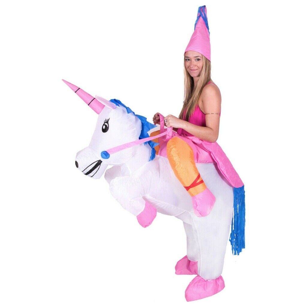 Inflatable Unicorn Costume Adult Blow Up Suit Kid Party Gift