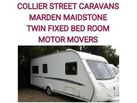 2007 swift challenger 510 + movers twin single fixed beds