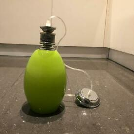 Brand New Light Pendant (Green) with Chrome Fitting