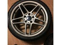 Ac schnitzer alloys wheels 18s 5x120 bmw alloy wheels