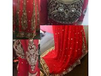 Asian bridal dress comes with a scarf