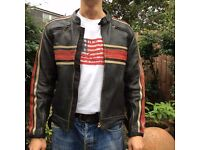 "Motorcycle leather ""cafe racer"" jacket"
