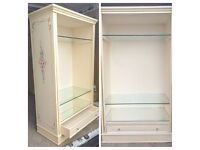 HANDMADE PAINTING LOVELY Solid Wood Display Cabinet/Bookcase - LOCAL FREE DELIVERY