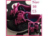 Girls Disney Liv & Maddie trainers size 10