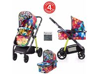 Cosatto WOW pushchair & carrycot travel system (spectroluxe) NEW