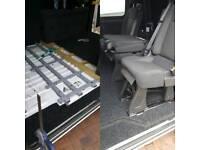 Rear van seat 2+1
