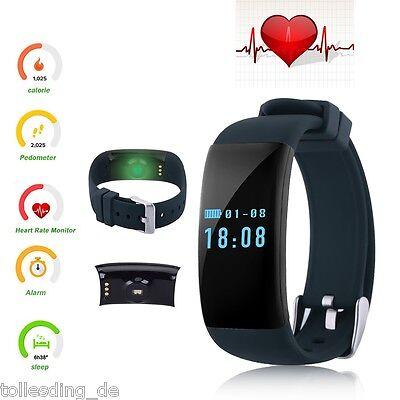 Bluetooth Smart Armband Uhr Handy Pulsuhr Schrittzähler Sports Fitness Tracker