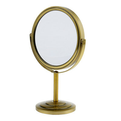 Vanity Stand (Antique Normal & Magnifying Vanity Cosmetic Stand Makeup Mirror Double-Sided)