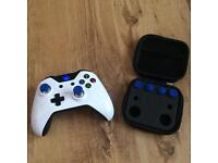 Xbox One Controller Elite Style Custom Blue Metal Magnetic Thumbsticks Joystick Swap Kit.