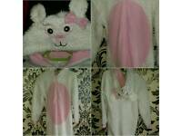 GIRLS FLUFFY ONESIE 7-8 YEARS