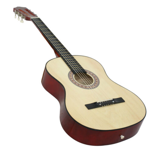 38″  Beginners Acoustic Guitar With Guitar Case, Strap, Tuner and Pick NATURAL Acoustic Guitars