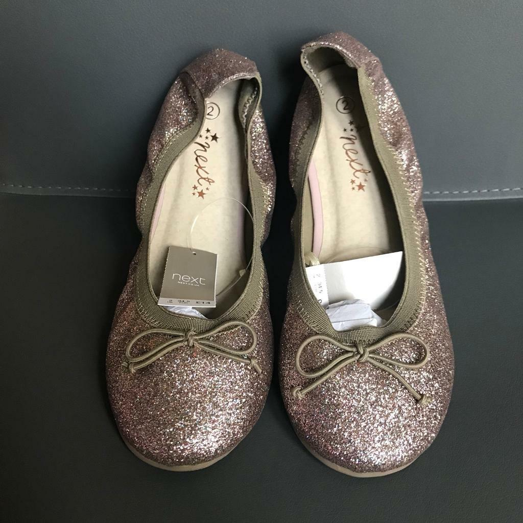 New Girls Next Glittery Ballerina Shoes - Size 2