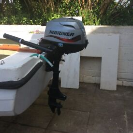 Outboard engine, Mariner 3.5hp 4 stroke for boat in excellent condition