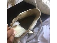 White suede high top converse worn size 7 free p&p