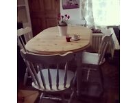 PINE TABLE AND CHAIRS FREE DELIVERY