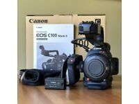 Canon C100 Mark II with 2 Original Canon Batteries (Worth £169 each)