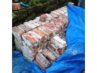Reclaimed old red bricks