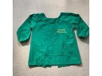 Newpark Nursery Montessori School Good Quality Green Smock Size Small 2 3 4 Years