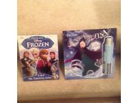 Disney frozen Sing with Elsa book and microphone