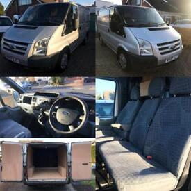 Only 74K NO VAT (07) Ford Transit T260S LX SWB 85BHP 2.2TDCI, FSH Air Con, Electric Pack, Tow Bar.