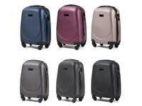 Small Suitcase 27l Hand Luggage Wizzair ABS Spining Wheels Colors Lock Straps