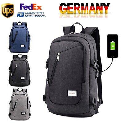 Rucksack Herren Premium Schule Männer Arbeit schwarz USB