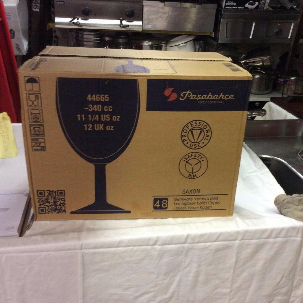 48x 250 ml marked saxon wine glasses fo sale jrestaurant and bar