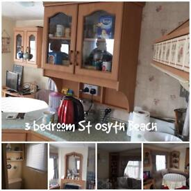 3 bedroom Caravan for hire full decking on st osyth beach holiday park