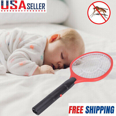 Electronic Bug Zapper Racket Mosquito Fly Swatter Insects Pest Electric Bat US ()