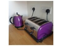 Matching Purple Kettle & Toaster For Sale