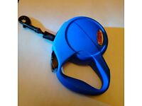 Blue Flexi New Classic Cord Retractable/Extendable Dog Lead - Accessories Dog Leads