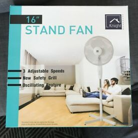 Fan 16 inch Pedestal * AS NEW - BOXED