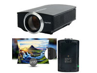 BRAND NEW,YAEKOO Mini Portable Projector 1200 lUMENS 1080P