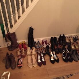 All size 3 . Selection of heels, flat, boots , day and night wear .