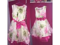 Girls floral dress aged 7-8 years