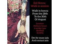 Eid Henna حنة (Mehndi) walk in session
