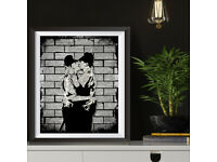 Banksy Graffiti Art Prints on Antique Dictionary Book Pages, Wall decor, Wall art Home Decor Poster