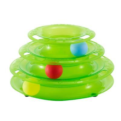 Kitty Tunnel Three Tower Intelligent Toy Dish Funny Cat Pet Ball Toys Green