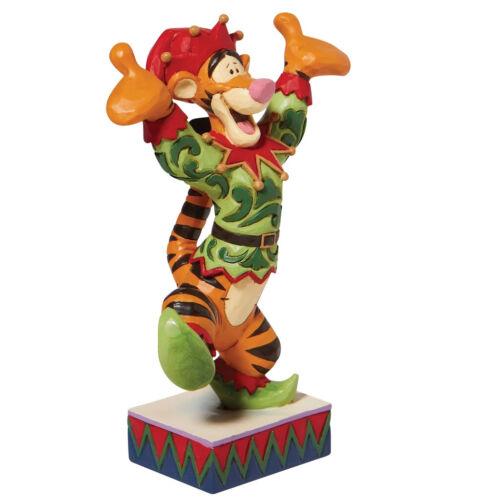 Disney Tradtions Jim Shore 2021 Tigger Extatic Elf Christmas Figurine 6008983