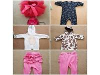 Bulk of Newborn 0- 3 months Baby girl clothes excellent condition