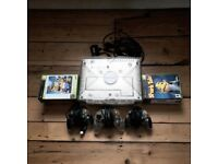 Original Crystal Xbox +3 Controllers and cables