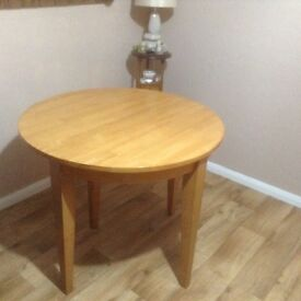 Pine effect dining table,