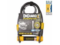 NEW BIKE LOCK (2240) ONGUARD BULLDOG 8012 DT U-LOCK +CABLE BIKE SHACKLE D-LOCK BICYCLE HIGH SECURITY