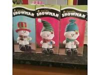 3 MINI CHRISTMAS SNOWMEN (BOXED)